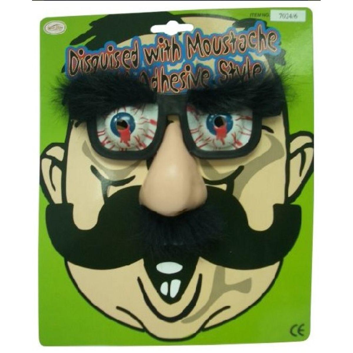 HM Studio Žartovný predmet Okuliare s nosom a obočím