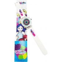 Hodinky Lollipopz s LED světlem bílý pásek
