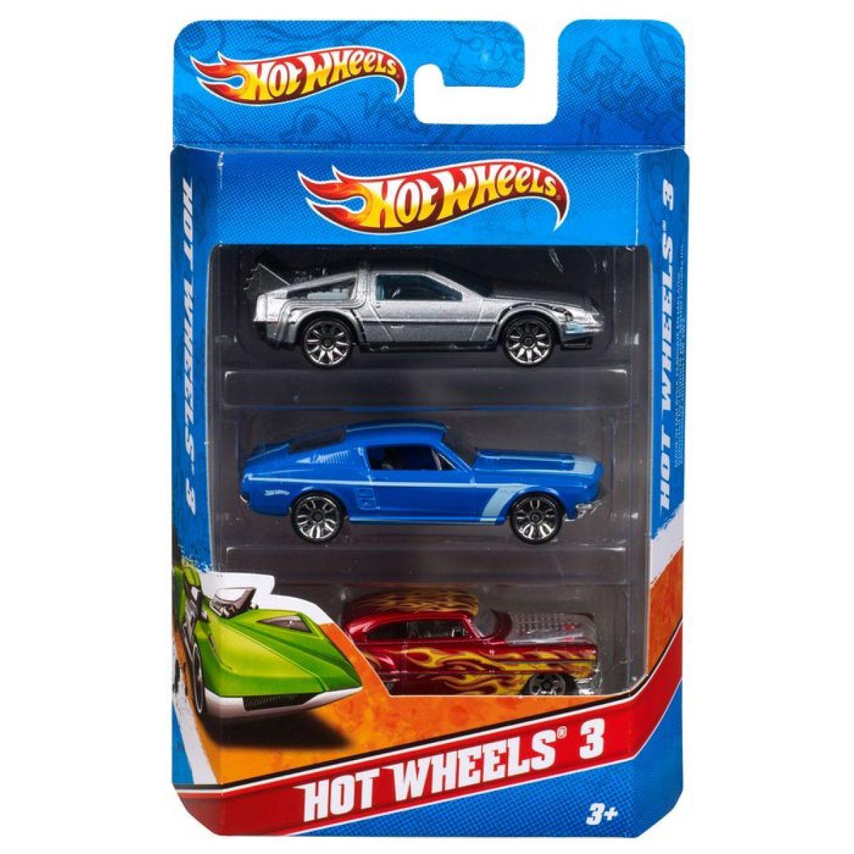 Hot Wheels Sada angličákov 3 ks