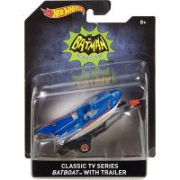Hot Wheels Batman Prémiové auto Batboat 1:50 3