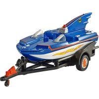Hot Wheels Batman Prémiové auto Batboat 1:50