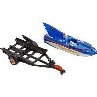 Hot Wheels Batman Prémiové auto Batboat 1:50 2
