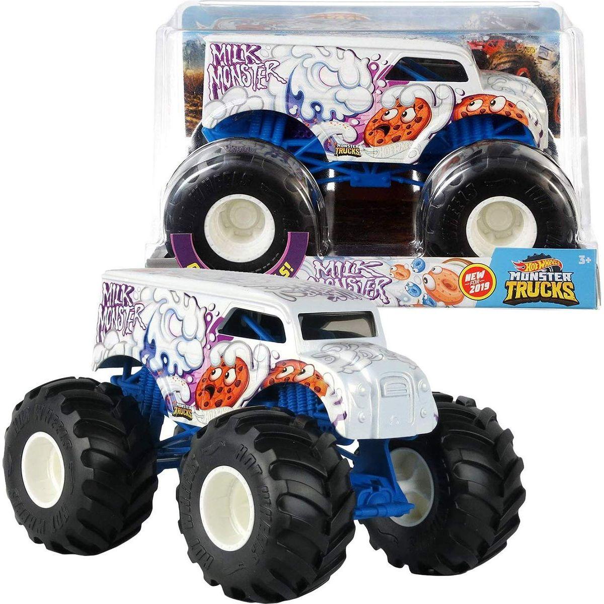Hot Wheels Monster trucks kaskadérske kúsky Milk Monster
