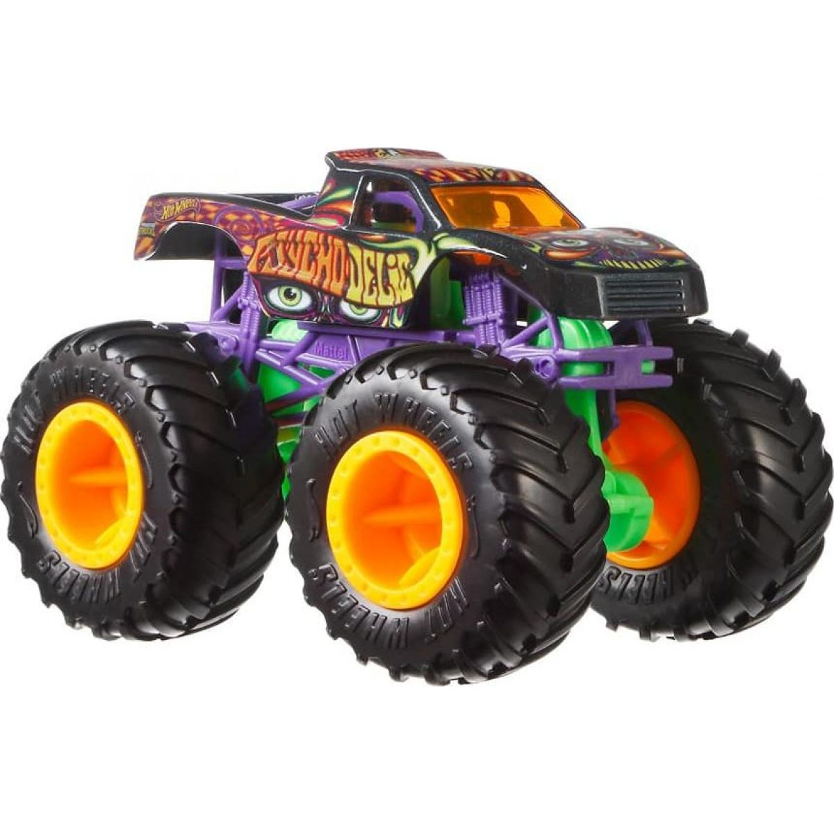 Hot Wheels Monster trucks kaskadérske kúsky Psycho Delic