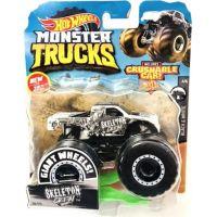 Hot Wheels Monster trucks kaskadérské kousky Skeleton Crew černo-bílý