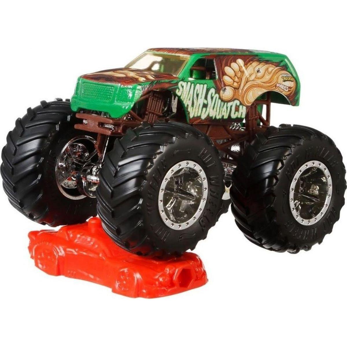 Hot Wheels Monster trucks kaskadérske kúsky Smash Squatch