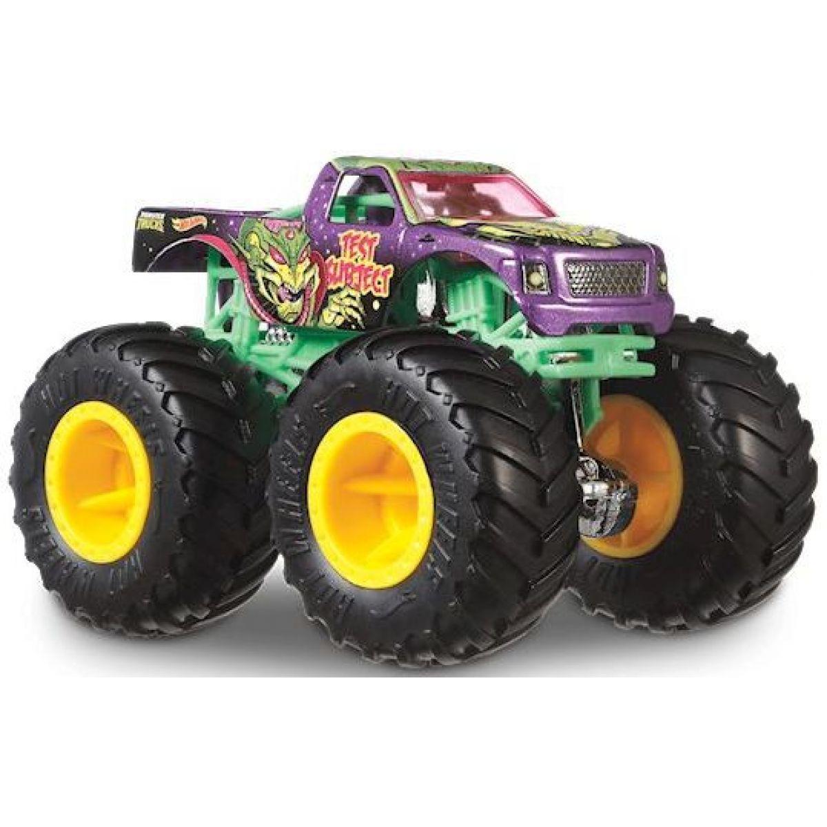 Hot Wheels Monster trucks kaskadérske kúsky Test Subject