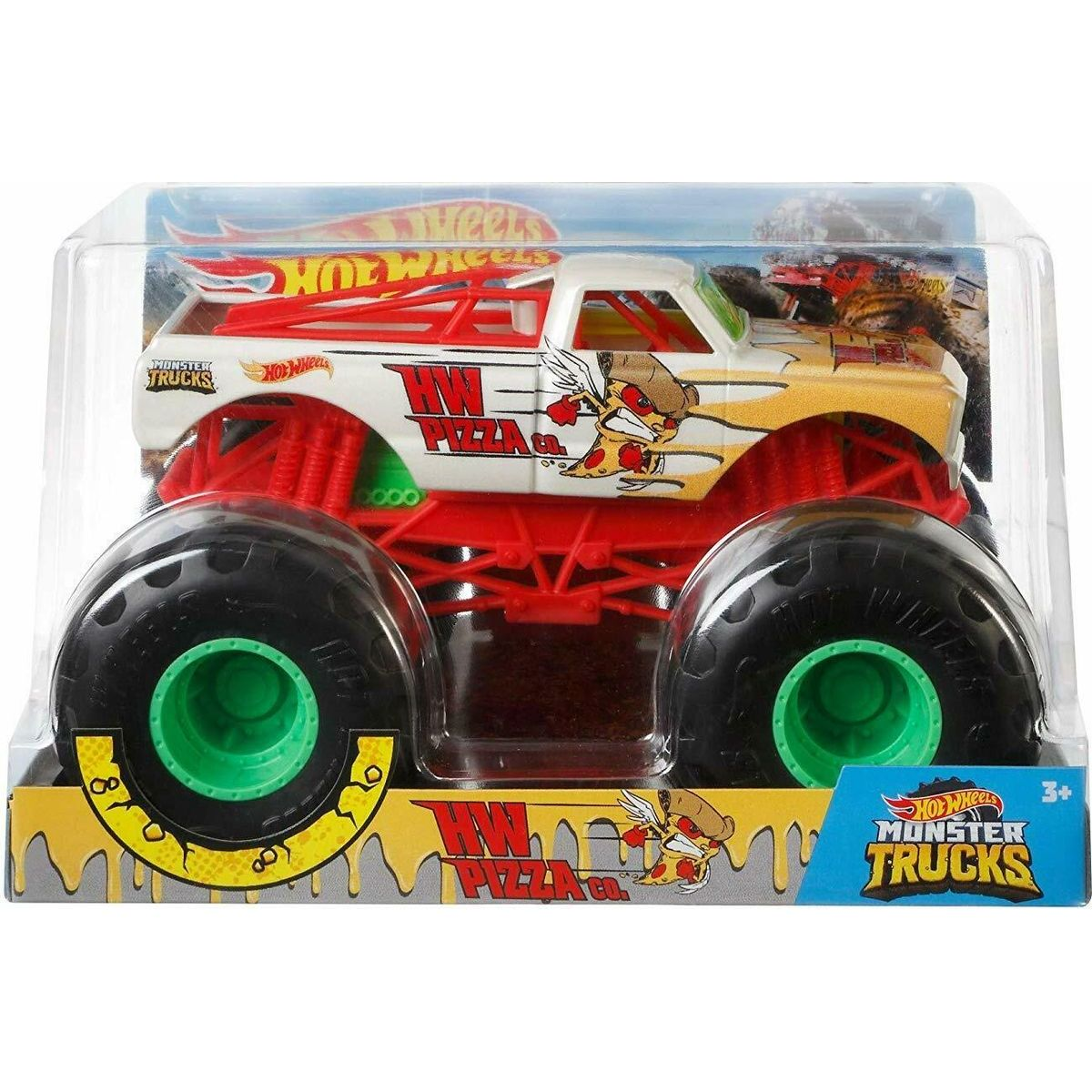 Hot Wheels Monster trucks veľký truck HW Pizza CO.