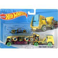Hot Wheels Náklaďák HW Park N Play žlutý