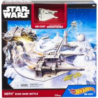 Hot Wheels Star Wars Hrací set s hvězdnou lodí Hoth Echo Base Battle