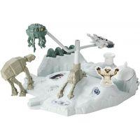 Hot Wheels Star Wars Hrací set s hvězdnou lodí Hoth Echo Base Battle 2