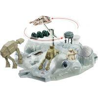 Hot Wheels Star Wars Hrací set s hvězdnou lodí Hoth Echo Base Battle 4