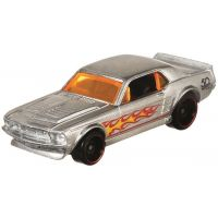 Hot Wheels Tématické auto Zamac Flames 67 Ford Mustang Coupe