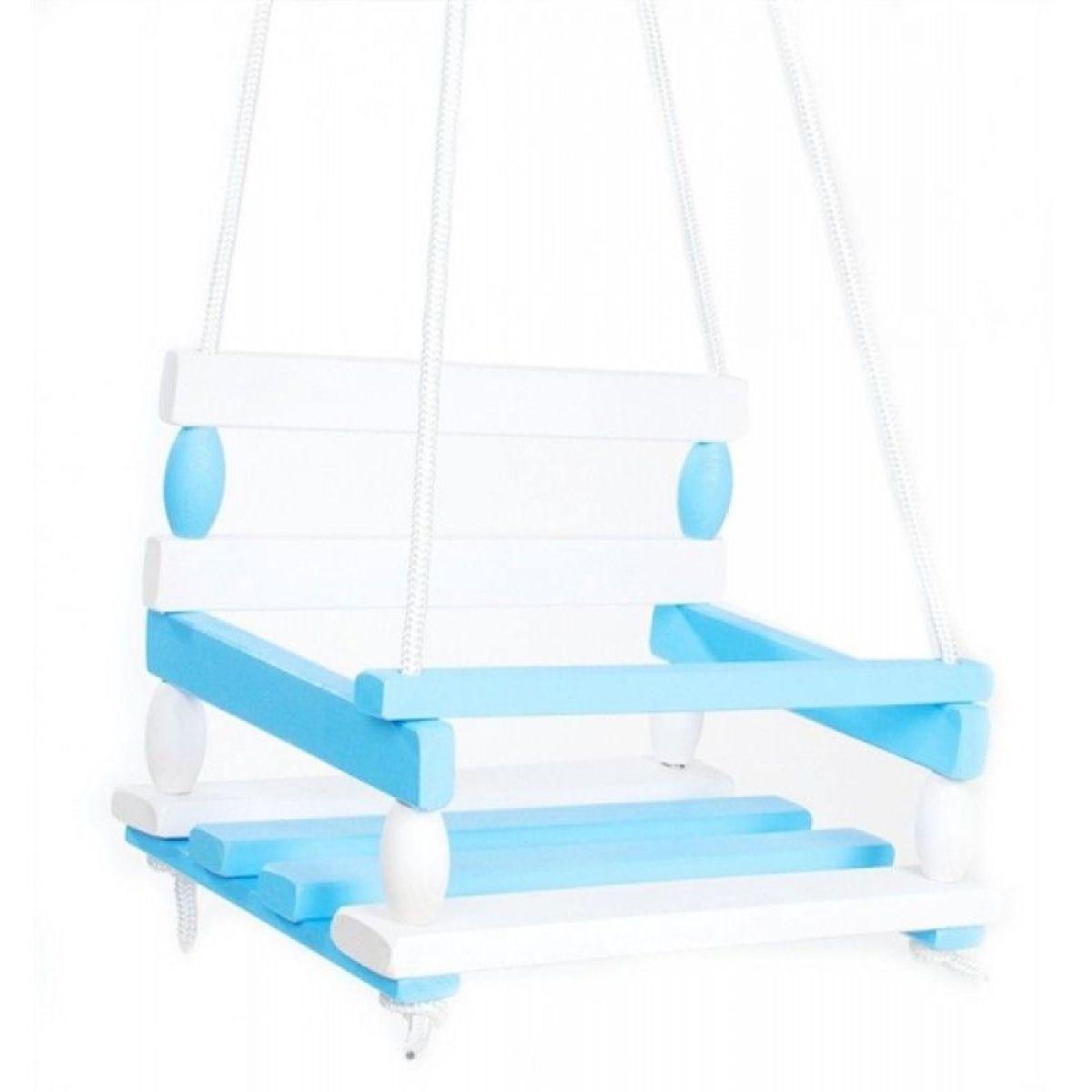 Hojdačka drevená bielo modrá nosnosť 80 kg