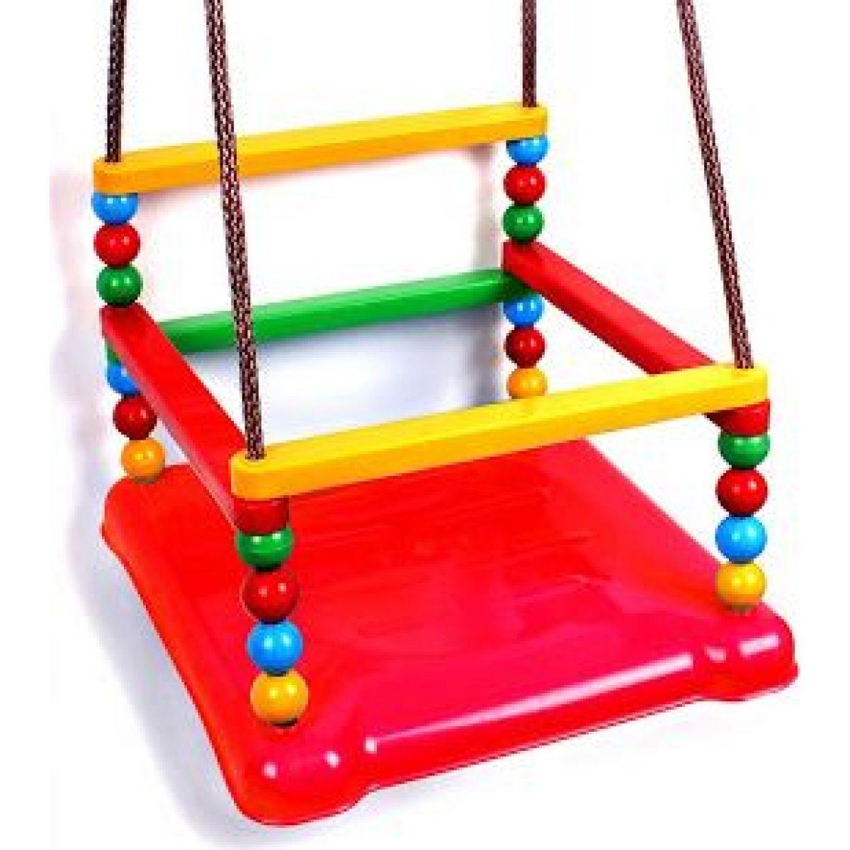 Hojdačka plast 35x34cm nosnosť 40kg červený sedák