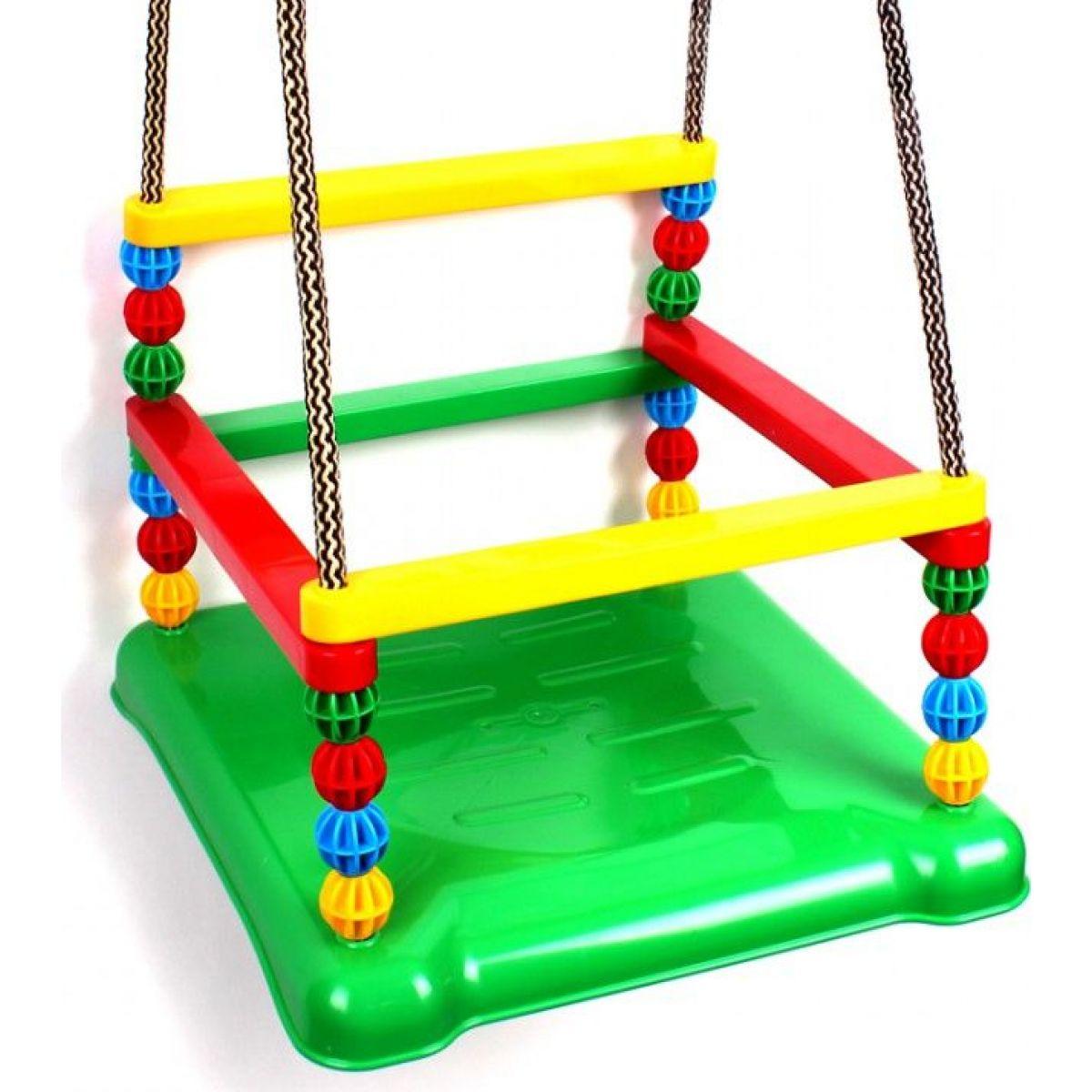 Hojdačka plast 35x34cm nosnosť 40kg zelený sedák