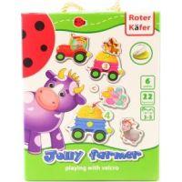 Hra s lepíky na suchý zip Farmář Jolly