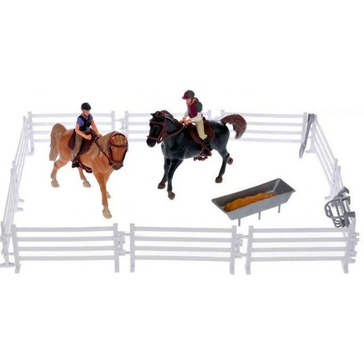 Hracia sada jazdci s koňmi