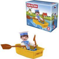 Igráček Námorník s loďkou