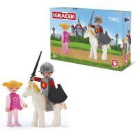 Igráček Trio Princezná, rytier a biely kôň