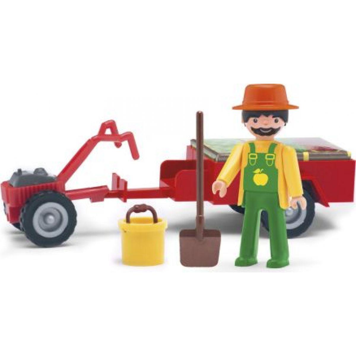 Igráček Záhradník s traktorom a doplnkami