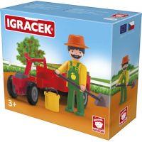 Igráček Záhradník s traktorom a doplnkami 2