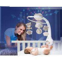 Infantino Hudobný kolotoč s projekciou 3v1 ecru 2