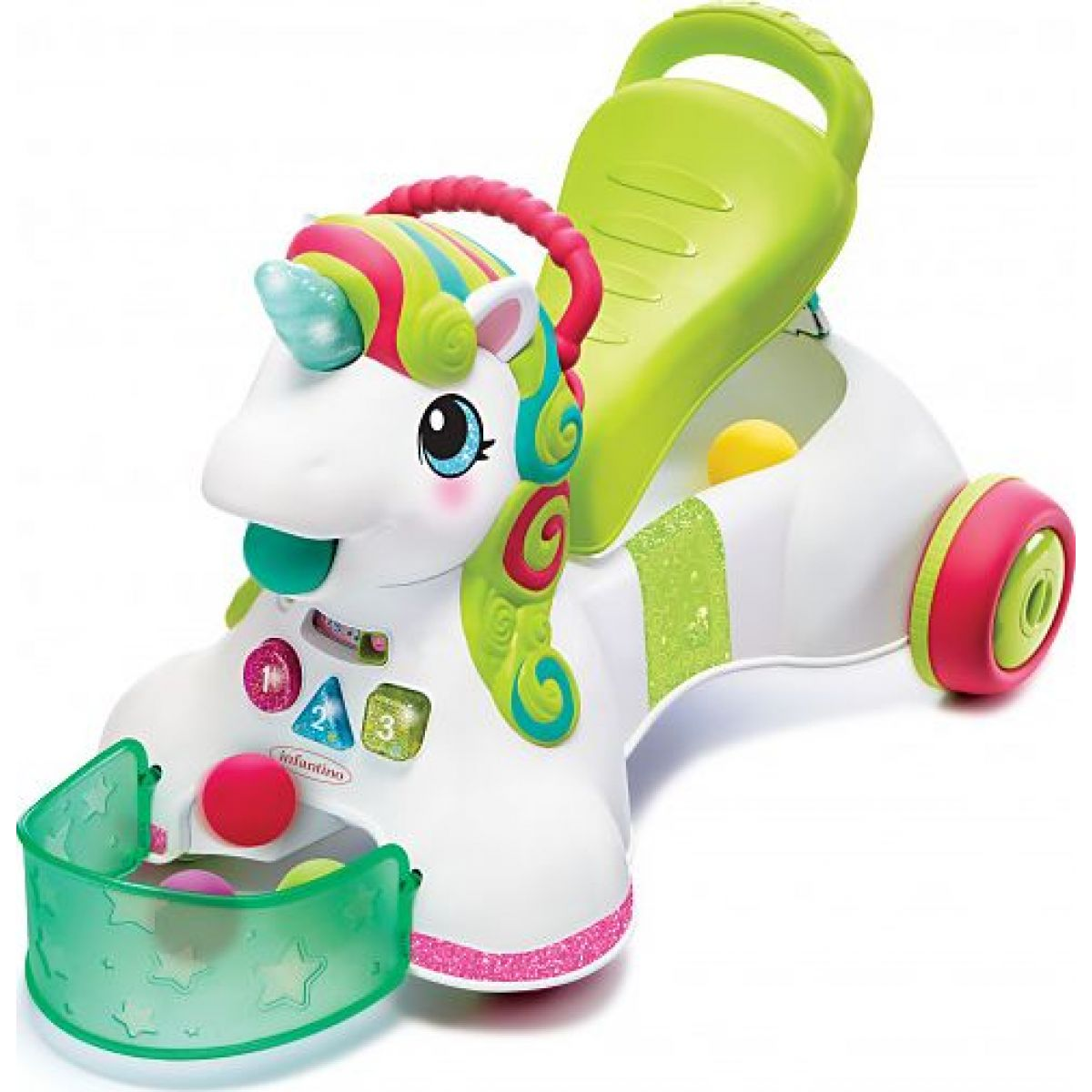 Infantino Odrážadlo 3v1 jednorožec Unicorn
