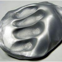 Inteligentní plastelína Zářívá stříbrná (metalická)