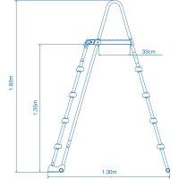 Intex 28077 Bazénový rebrík 3