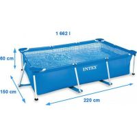 Intex 28270 Metal Frame 220 x 150 x 60 cm 2