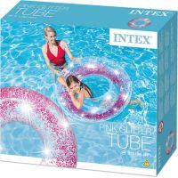 Intex 56274NP Kruh plávacie flitrový Ružový 4