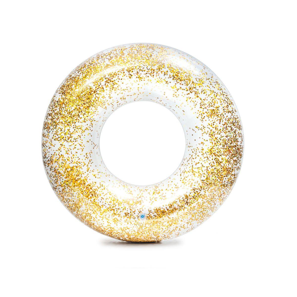 Intex 56274NP Kruh plávacie flitrový Zlatý