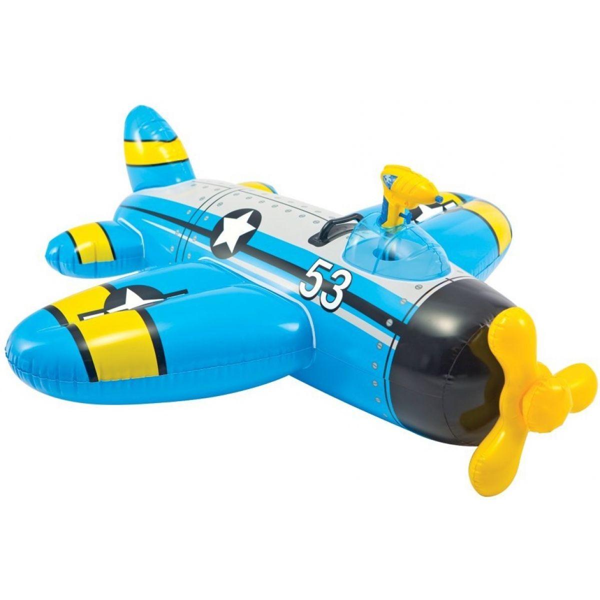 Intex 57537 Nafukovacie lietadlo 132x130 cm - Modrá