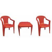 Ipae sada 2 stoličky so stolčekom červená