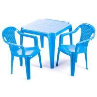 Ipae sada 2 stoličky so stolčekom modrá