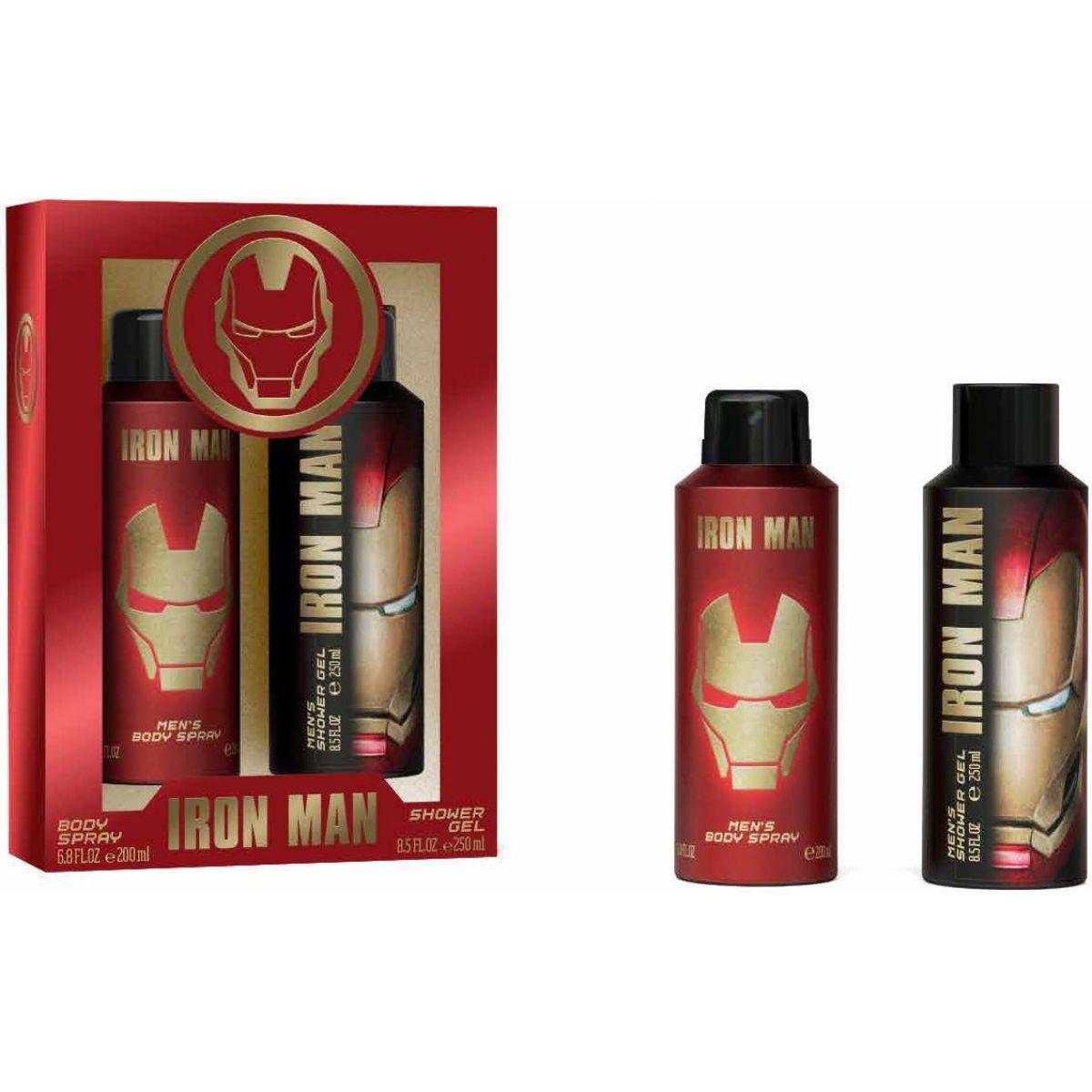Iron Man tělový sprej 200ml, sprchový gel 250 ml - Poškodený obal