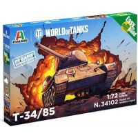 Italeri Easy to Build World of Tanks 34102 T 34 85 1:72