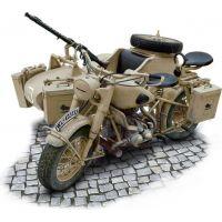 Italeri Model Kit military 7403 German Military Motorcycle with Sidecar 1: 9 2