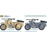 Italeri Model Kit military 7403 German Military Motorcycle with Sidecar 1: 9 4