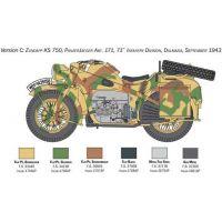 Italeri Model Kit military 7406 Zundapp KS 750 with sidecar 1: 9 4