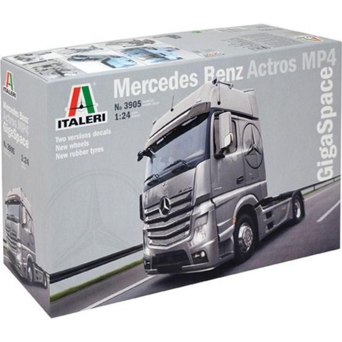 Italeri Model Kit truck 3905 Mercedes Benz Actros MP4 Gigaspace 1:24