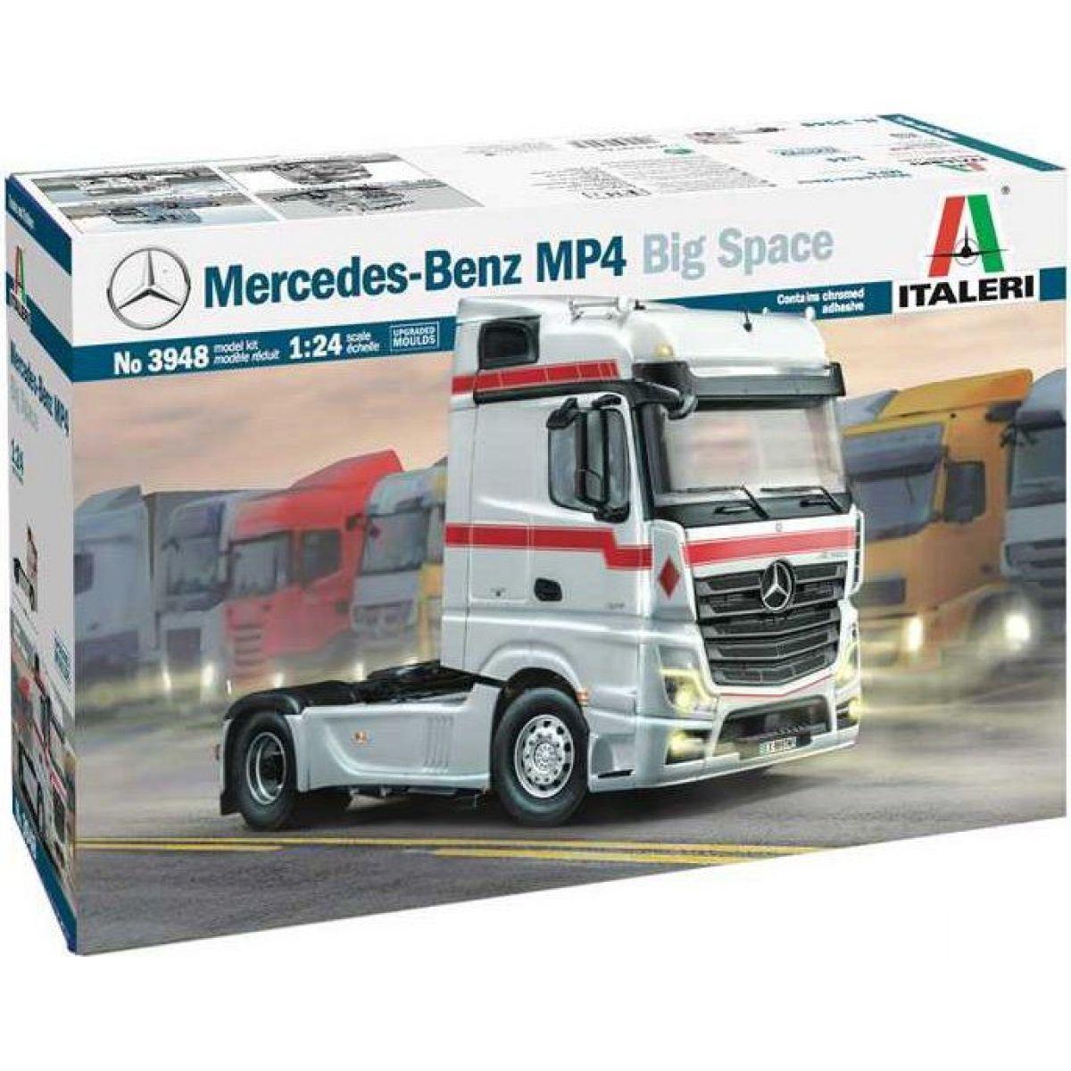 Italeri Model Kit truck 3948 Mercedes-Benz MP4 Big Space 1:24
