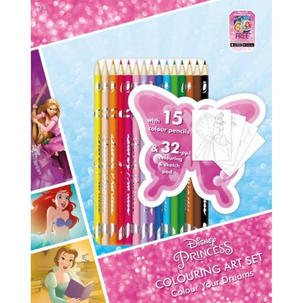 Jiri Models Disney Princess Umělecký set omalovánky s pastelkami