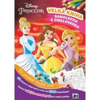 Princezny Kniha samolepek a omalovánek
