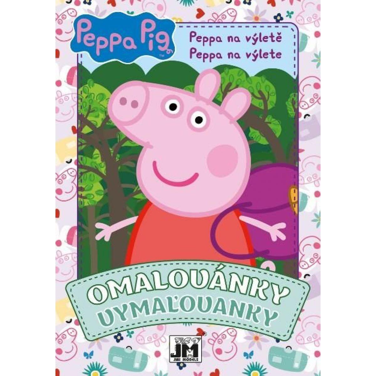 Jiri Models Omalovánky A5 Peppa Pig na výlete