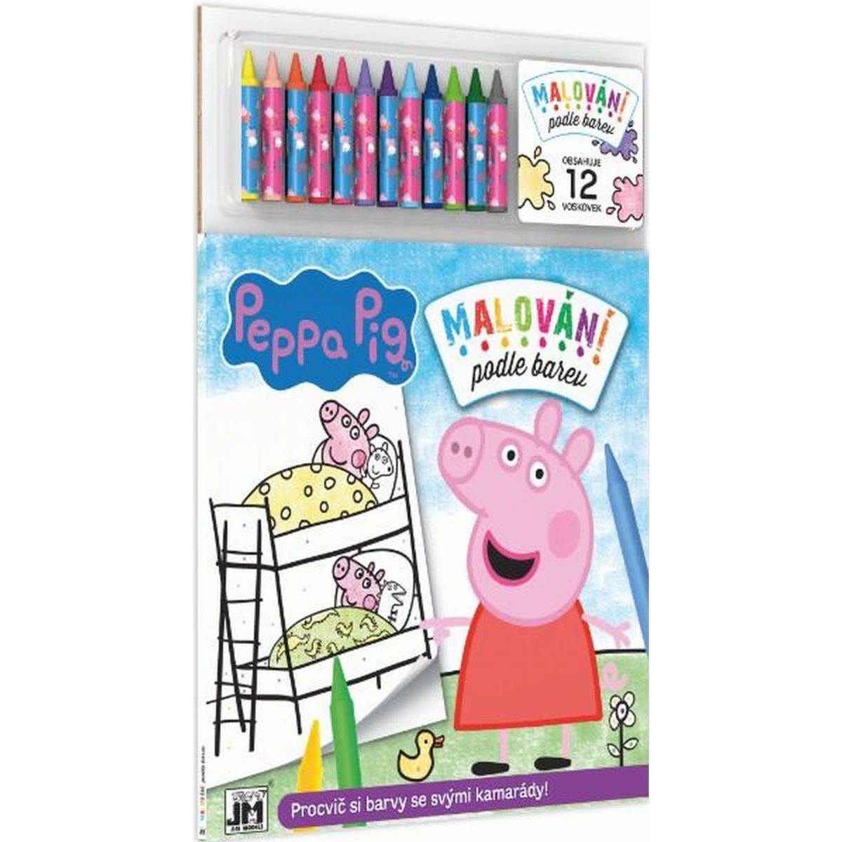 Peppa Pig Malování podle barev Prasátko Peppa