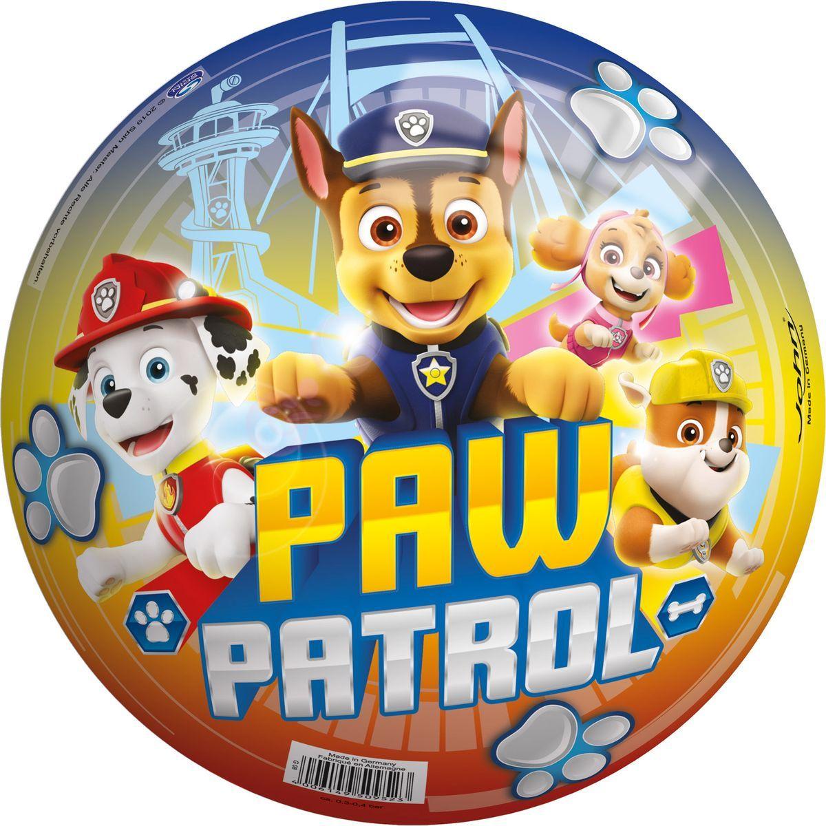 John Lopta Paw Patrol 23cm farebný s nápisom Paw Patrol