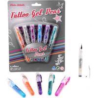 John toys Gelová tetovací pera a šablony 6 barev