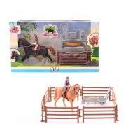 John toys Koník s jezdcem a překážkami